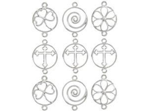 Jewelry Basics Metal Charms-Shapes 9/Pg