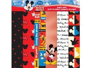 "Disney Paper Pack 12""X12"" 12 Sheets-Mickey & Friends"