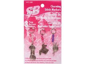 Susan Bates Charming Stitch Markers 3/Pkg-Yarn Cahrms