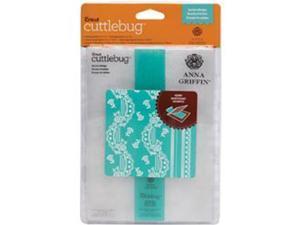 "Cuttlebug 5""X7"" Embossing Folder/Border Set-Anna Griffin Eyelet Stripe"