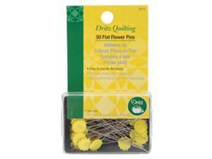 """Dritz Quilting Flat Flower Pins -2"""" 50/Pkg"""