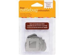 Cuttlebug Embossables Metal Shapes 10/Pkg-Labels & Frames&#59; Silver
