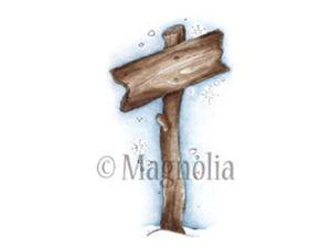 """Winter Wonderland Cling Stamp 6.5""""X3"""" Package-Show The Way Sign"""