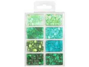 Cup Sequin Kit 7mm 25/Pkg-Go Green