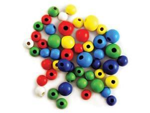 Craftwood: Round Beads Assorted 10-16mm 60/Pkg-Colored