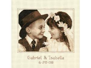 """First Love Wedding Record Counted Cross Stitch Kit-11""""X11"""" Ivory"""