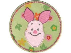 Disney Winnie The Pooh Piglet Flower Circle Iron-On Applique-
