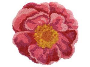 "Latch Hook Kit 31""X30"" Shaped-Pink Flower"