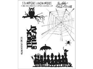 Tim Holtz Cling Rubber Stamp Set-Halloween Cutouts