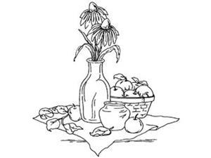 """Inky Antics Mounted Rubber Stamps-Coneflower Still Life 3""""X3-1/4"""""""