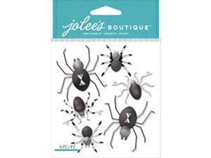 Jolee's Boutique Dimensional Stickers-Black & White Spiders