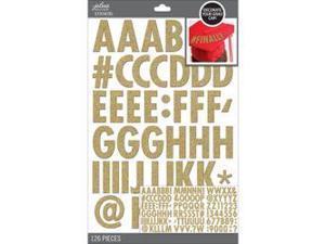 Jolee's Graduation Cap Alphabet Stickers-Gold