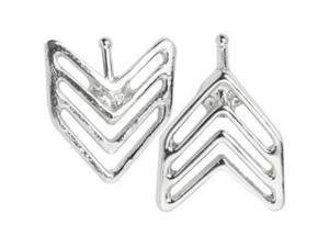 Odds & Ends Cuff Ends 2/Pkg-Silver Arrow