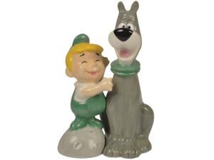 Westland Giftware The Jetsons Magnetic Elroy and Astro Salt and Pepper Shaker Set, 4-Inch