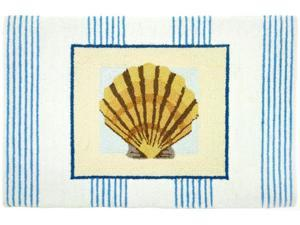 Tropical Scallop Clam Seashell Floor Mat Area Rug
