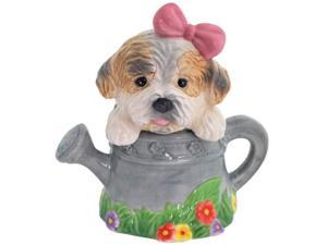 Puppy Luv in Garden Watering Can Salt and Pepper Shaker Set Westland Giftware
