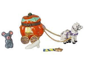 Cinderella Pumpkin Carriage Hinged Trinket Box