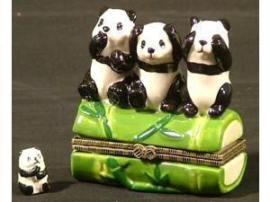 Say No Hear No See No Evil Pandas Trinket  Box phb