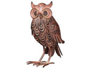 Wise Hoot Owl 7 Inch High Metal Tabletop Figurine Decor 3 Dimensional