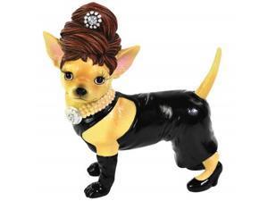 Little Black Dress Dolled Up Chihuahua Dog Figurine Westland Giftware