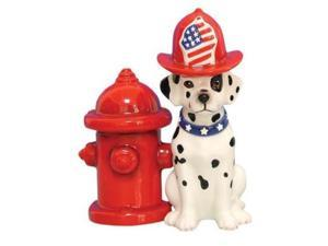 Dalmatian Dog Fire Hydrant Salt and Pepper Shaker