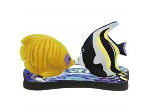 Mothers Miracle Tropical Kissing Fish Shakers on Reef Tray Set Westland