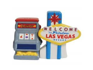 Welcome to Famous Las Vegas Sign and Slot Machine Salt and Pepper Shakers Set