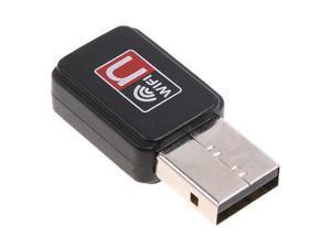 Mini 150M USB 2.0 WiFi Wireless LAN 802.11 n/g/b Adapter 802.11b/g/n, 64/128-Bit WEP WPA WPA2, 2.4 - 2.4835 GHz, 2dBi Antenna