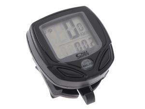 Black LCD Wireless Cycle Computer Bicycle Bike Meter Speedometer Odometer - Monitor Bikes Speed, Distance, Riding Time