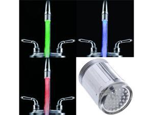 Glow LED Water Faucet Stream Light Temperature Sensor Green Red Blue