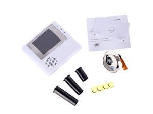 2GB Digital Peephole Doorbell 0.3M Night Vision Video Record Home Security White