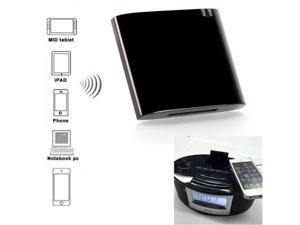 Wireless Stereo Bluetooth Music Receiver/Adapter for iPhone iPad iPod Samsung 30-pin Dock Speaker Boombox