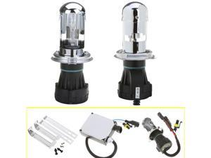 H4 55W 6000K H/L Beam Xenon HID Conversion Kit Telescopic Light Headlamps Super Vision Bulbs Ballast