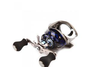 11BB 6.3:1 Left Hand Bait Casting Fishing Reel 10Ball Bearings + One-way Clutch High Speed Blue