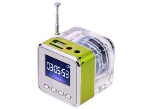 Mini Digital Portable Music MP3/4 Player Micro SD/TF USB Disk Speaker FM Radio Silver
