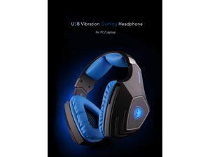 SADES A60 Professional 7.1 Sound USB Vibration Gaming Game Headphone Headset Mic 3 Colors LED