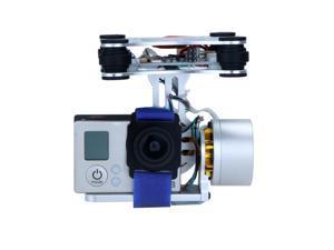 DJI Phantom 1 Brushless Gimbal Camera Mount with Motor & Controller for Gopro 3 FPV Aerial Photography