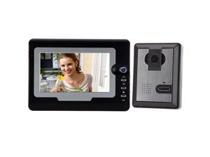 "7"" TFT Color LCD Display Video Door Phone Visual Intercom Doorbell Hands Free IR Night Vision"