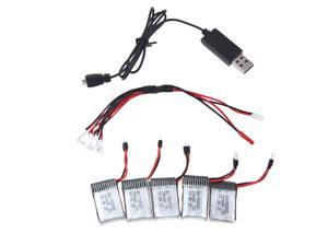 Hubsan H107 Series Wltoys Walkera Mini Quadcopter Supper Fly Charger Battery Sets 3.7V 240mAh Lipo Battery 5Pcs and Charger