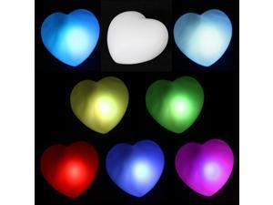 10 Packs RGB Colorful LED Heart Christmas/Valentine/Wedding Decoration Night Light