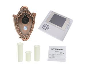 2GB Digital Peephole Doorbell 0.3M Night Vision Video Record Home Security