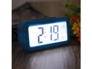 LED Digital Alarm Clock Repeating Snooze Light-activated Sensor Backlight Time Date Temperature Display