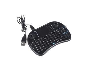 TOMTOP 2.4G Mini Wireless QWERTY Keyboard Mouse Touchpad for PC Notebook Android TV Box HTPC - Black