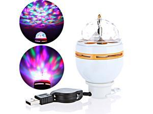 3W LED Portable Stage DJ Light Auto Rotating Bulb with USB Interface