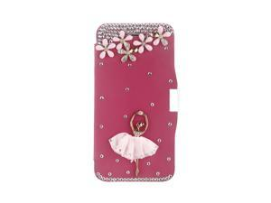 Magnetic Flip PU Leather Hard Skin Ultra Slim Pouch Wallet Case Cover Bling Diamond Rhinestone Crystal for Apple iPhone 6