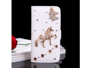 Flip Leather Bling Flower Wallet Case Cover Phone Protective Shell with Stand Card Holder for Apple iPhone 6