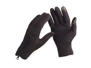 Sports Gloves Outdoor Windproof Winter Thermal Warm Touch Screen Silicone Palm Unisex L