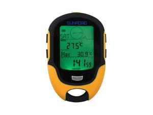 Sunroad FR500 Multifunction LCD Digital Altimeter Barometer Compass Thermometer Hygrometer Weather Forecast LED Torch