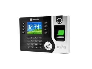 """Realand 2.4"""" TFT LCD Display Biometric Fingerprint Attendance Machine ID Card Reader TCP/IP USB DC12V/1A Time Clock Recorder Employee Checking-in"""