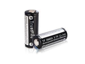 TrustFire 2PCS 26650 Battery 4000mAh 3.7V Rechargeable Lithium with PCB Protected Board